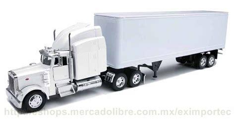 imagenes kenworth blanco tractocamion trailer peterbilt blanco con caja a escala 1