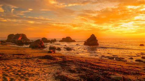 sunset sea beach landscape ocean  wallpaperscom