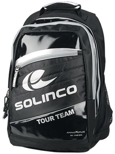 Solinco Backpack Silver the paddle store solinco pro black backpack