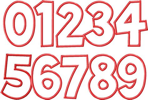 embroidery design number simple applique numbers machine embroidery designs
