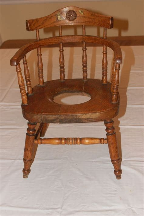 Wood Potty Chair by Antique Child S Wooden Potty Chair