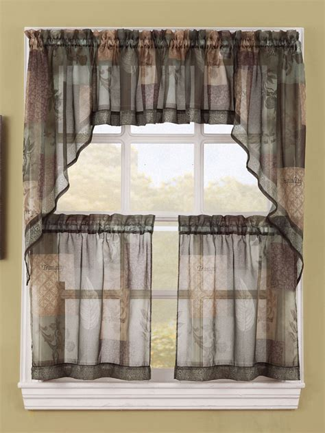 kitchen curtains lichtenberg sheer kitchen curtains