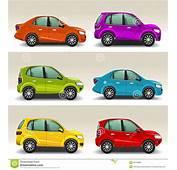 Carros Coloridos Ilustra&231&227o Do Vetor  Imagem 39125899