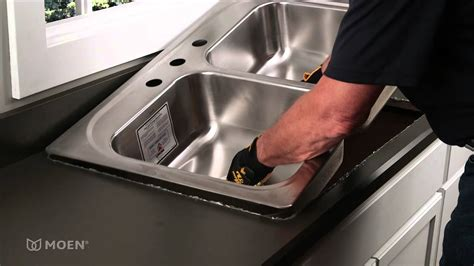 installing a drop in sink how to install a stainless steel drop in sink moen