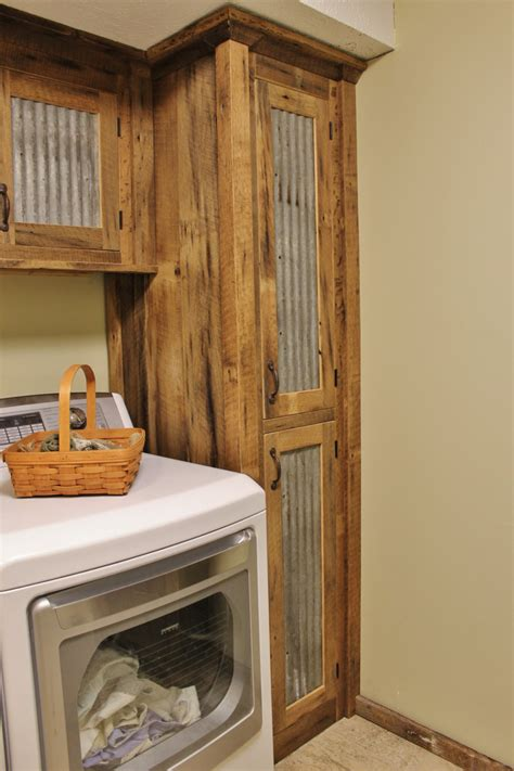 rustic cabinets for laundry room rustic tall storage reclaimed barn wood cabinet w tin doors