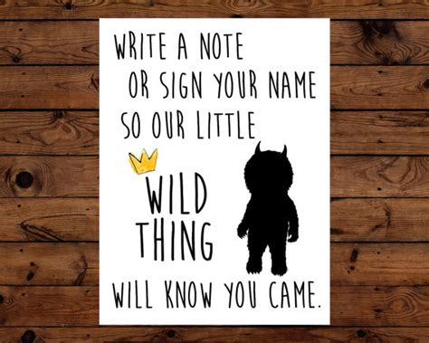Where the Wild Things Are Guest Book Sign Baby by BeHereNowDesign   Sam is turning 1