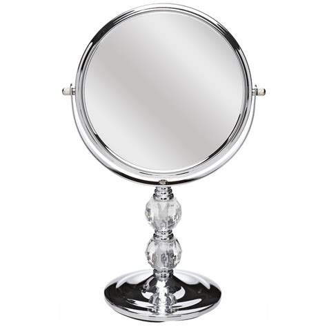 crystal bathroom mirror wilko free standing mirror chrome and crystal effect at