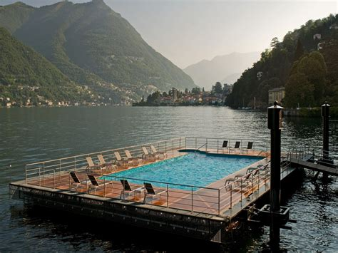 hotel casta como pool with a view in lake como italy