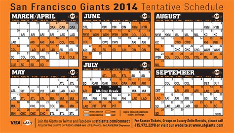 printable schedule for sf giants ny giants 2015 schedule printable calendar template 2016