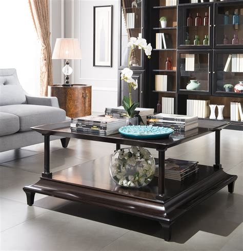 impressive decorating a square coffee table top design