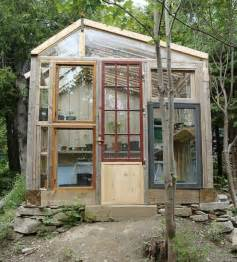 Green Small House Plans by Relaxshacks Com Salvaged Window Greenhouses Cabins N