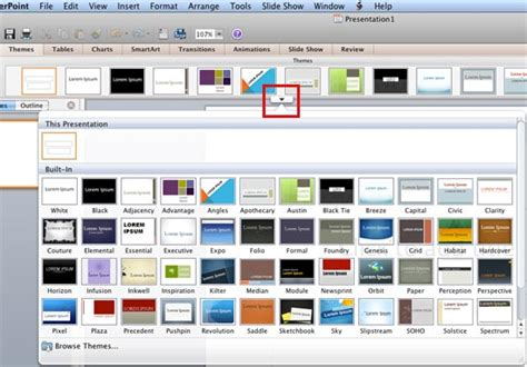 remove built in themes powerpoint 2010 applying themes in powerpoint word and excel 2011 for