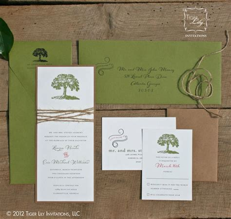 rustic twine wedding invitations rustic tree wedding invitation with twine tree wedding invitations twine wedding invitations