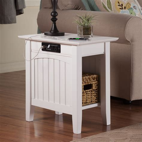 side table with charging station atlantic furniture chair side table with