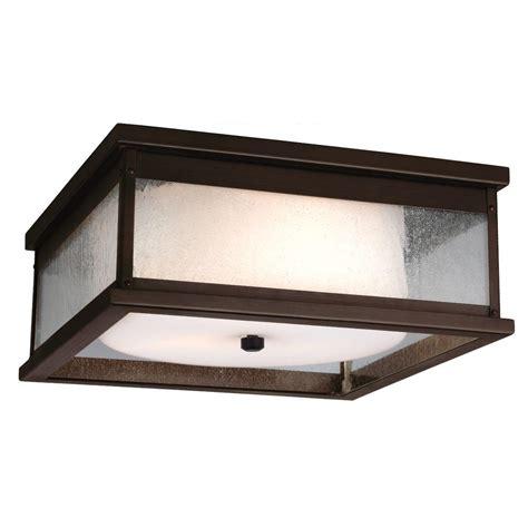 Outdoor Ceiling Light Fixture Sea Gull Lighting Sebring 1 Light Black Outdoor Ceiling Fixture 8869 12 The Home Depot