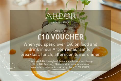 discount vouchers uk restaurants arbor discount voucher for january and february 2016 arbor