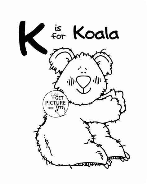 what color starts with k letter k alphabet coloring pages for letter k