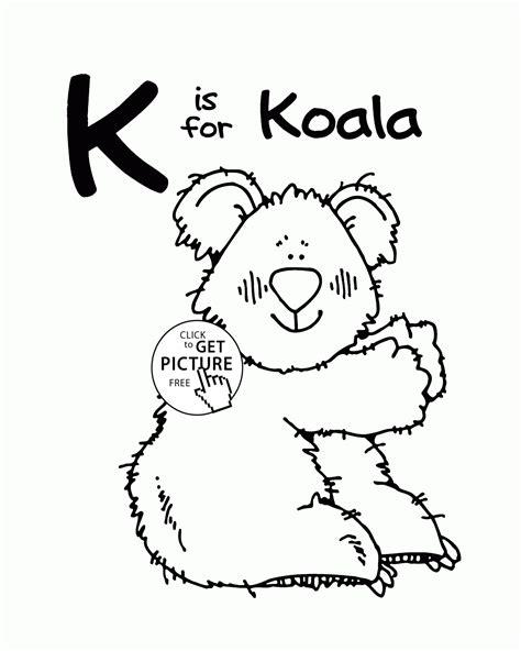 color that starts with the letter k letter k alphabet coloring pages for letter k