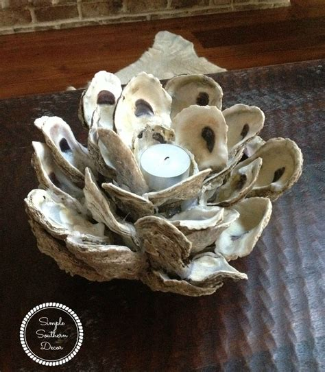oyster shell craft projects hometalk a oyster shell candle holder