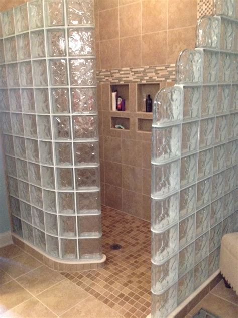 Glass Bathroom Tile Ideas by Glass Block Shower Kit Innovate Building Solutions