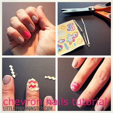 chevron pattern for nails 14 nail tutorials with tape tricks pretty designs