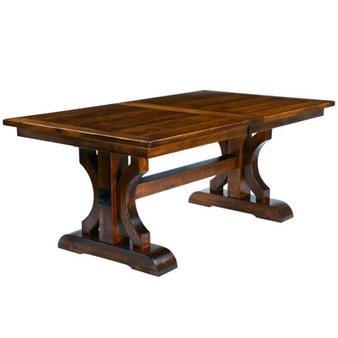 amish tables barstow trestle extension table amish tables