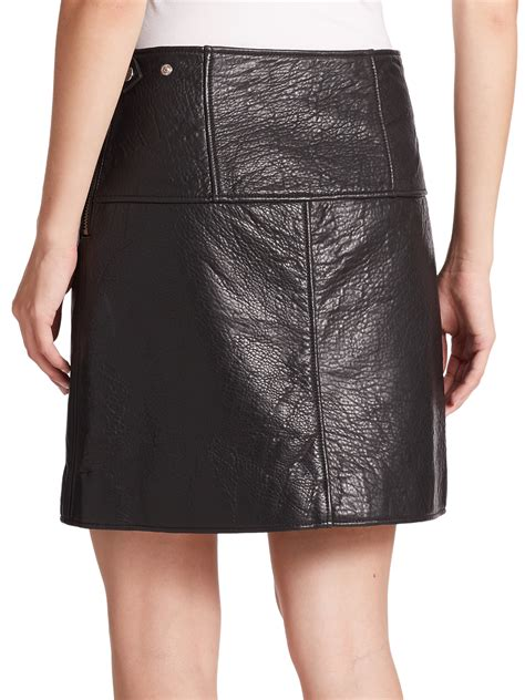 marc by marc jonah bonded leather a line skirt in