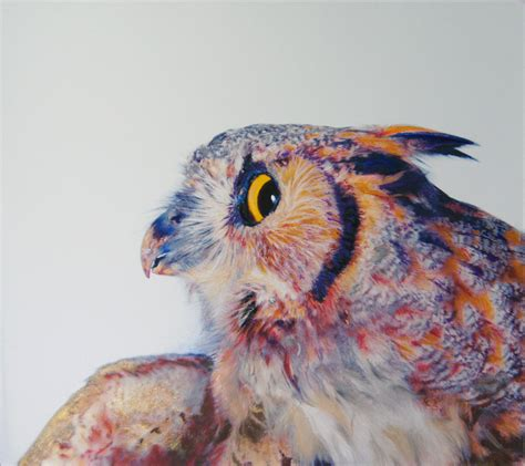 Owl Colored Pencil Drawing Really Owl Drawings With Color