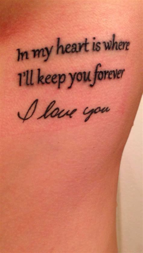tattooed heart written by tattoo of godmother s handwriting with the words quot in my