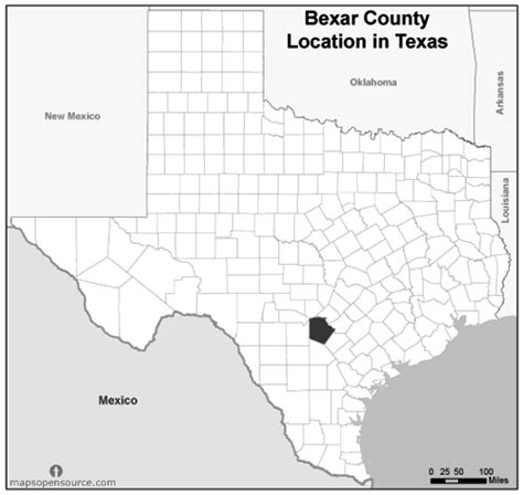 where is bexar county texas on the map free and open source location map of bexar county texas grayscale mapsopensource