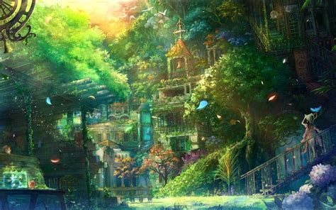 Anime Village Wallpaper | anime scenery anime scenery pinterest