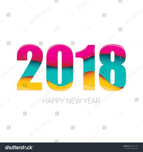2018 happy new year creative design stock vector 635221964