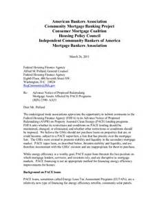 Mortgage Default Letter Template Nar Mba Fhfa Comment Letter