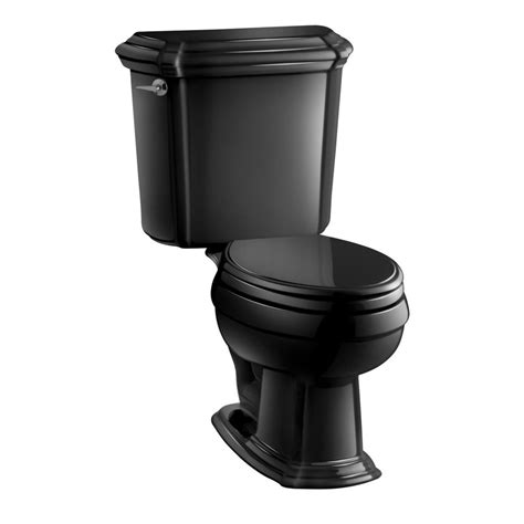black toilet shop kohler black black rough in elongated toilet at lowes com