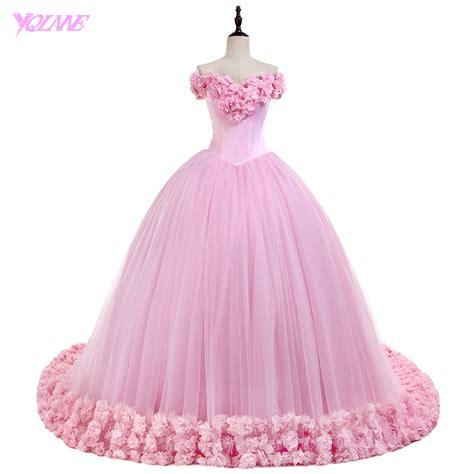 Pink Sweet Lace Dress 17835 yqlnne debutante the shoulder quinceanera dresses