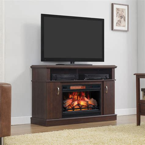 dwell infrared electric fireplace entertainment center in