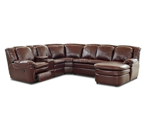 bonded leather sectional burgundy bonded leather reclining sectional w console unit