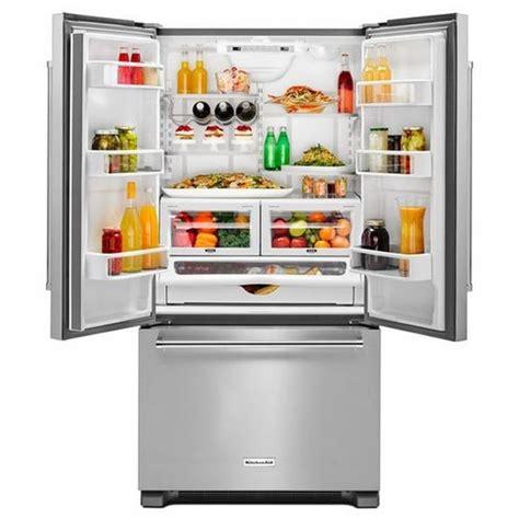 kitchenaid counter depth refrigerator with water dispenser krfc302ess kitchenaid 22 cu ft 36 inch width counter