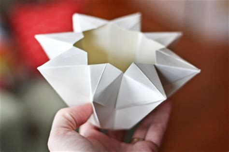 Paper Lantern Origami - make an origami lantern how about orange