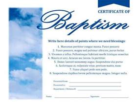 certificate of baptism template certificates hloom