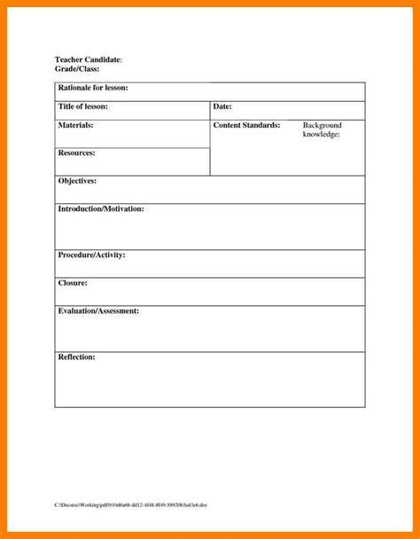 lesson plan template for elementary teachers 11 blank lesson plan xavierax