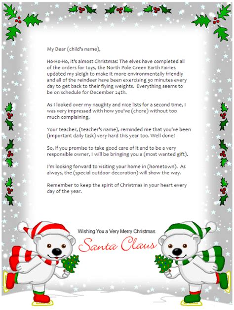 free printable santa claus letters north pole frugal mom and wife free personalized letter from santa