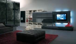nice Tv Cabinet Under Staircase Design #5: modern-italian-lcd-black-wall-unit-design-ipc217.jpeg