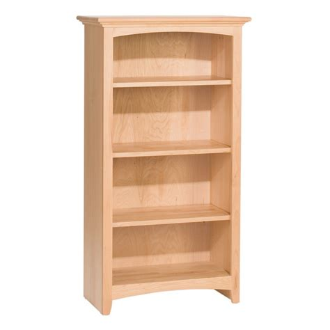 unfinished bookshelves wood whittier wood bookcase collection 24 quot wide