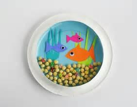 Kid craft paper plate aquarium inspiration diy