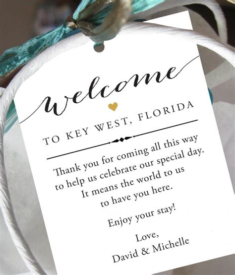 how to send flowers to a hotel room set of 10 gift tags for wedding hotel welcome bag destination wedding tags wedding welcome