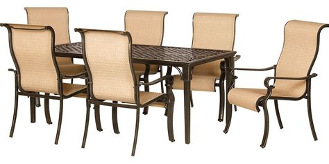 Big W Deck Chairs by Hanover 7 Outdoor Dining Patio Set Brigantine7pc