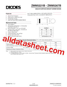 all zener diode datasheet pdf zmm5245b 7 datasheet pdf diodes incorporated