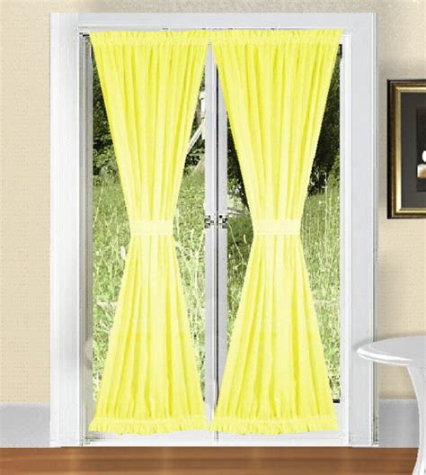 Bright Yellow Curtains Solid Bright Lemon Yellow Colored Swag Window Valance Optional Center Available