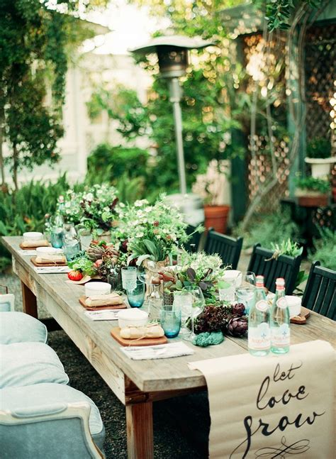 backyard party setup an intimate farm to table dinner party gardens runners